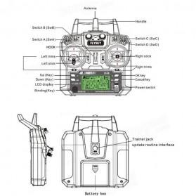 FlySky Remot Kontrol Drone RC Transmitter 2.4Ghz - Fs-i6 - Black - 13