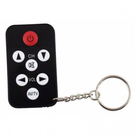 Universal TV Remote Control Mini with Keychain - Black
