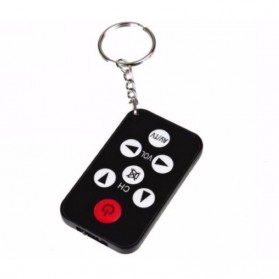 Universal TV Remote Control Mini with Keychain - Black - 2