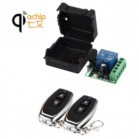 Qiachip Module Universal Wireless Remote Control 433MHz - C09 - Black - 1