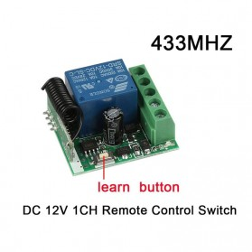 Qiachip Module Universal Wireless Remote Control 433MHz - C09 - Black - 2