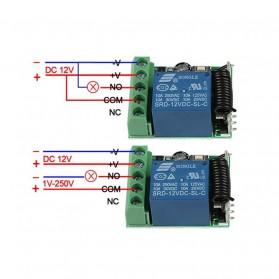Qiachip Module Universal Wireless Remote Control 433MHz - C09 - Black - 4