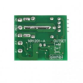 Qiachip Module Universal Wireless Remote Control 433MHz - C09 - Black - 6