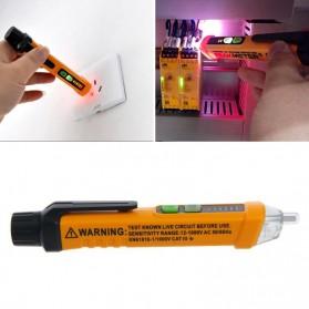 Tester Pen Voltase Listrik Non Kontak Peak Meter dengan LED - PM8908C - Yellow