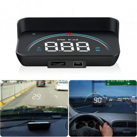 GEYIREN Display HUD Mobil OBD2 Speedometer Overspeed Warning - M8 - Black