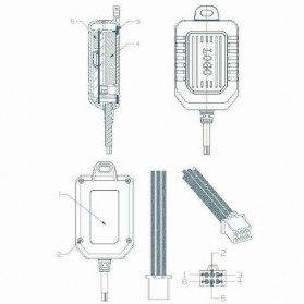 GPS Tracker Mini Mobil Motor - TK600 - Black - 4