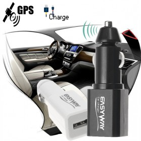 Easyway Smartphone Car Charger USB Port 2.1A GPS GSM - S9 - Black