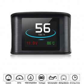 Display HUD Mobil OBD2 On-board Computer Speedometer - P10 - Black