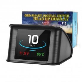 Display HUD Mobil OBD2 On-board Computer Speedometer - P10 - Black - 2