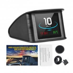 Display HUD Mobil OBD2 On-board Computer Speedometer - P10 - Black - 3