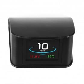 Display HUD Mobil OBD2 On-board Computer Speedometer - P10 - Black - 4