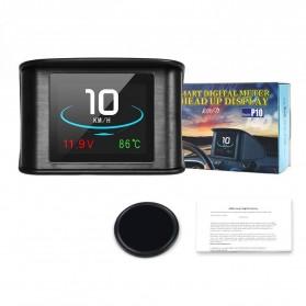 Display HUD Mobil OBD2 On-board Computer Speedometer - P10 - Black - 6