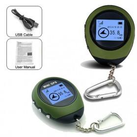 Mini GPS Pathfinder Portable Keychain - ST-901 - Green - 2