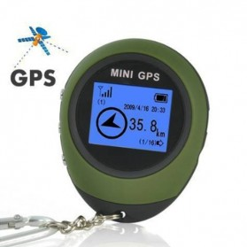 Mini GPS Pathfinder Portable Keychain - ST-901 - Green - 4