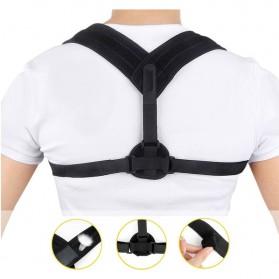 Tali Korektor Postur Punggung Body Harness Support Belt 90-110cm - 10223 - Black