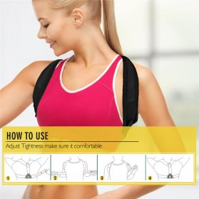 Tali Korektor Postur Punggung Body Harness Support Belt 90-110cm - 10223 - Black - 4