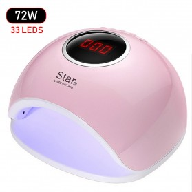 Pengering Kutek Kuku UV LED Nail Dryer 72W - Star5 - Pink