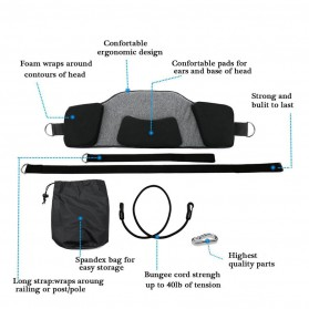 Smelov Neck Hammock Pain Relief Alat Terapi Leher Pundak dan Kepala - SM18-518-2 - Black - 3
