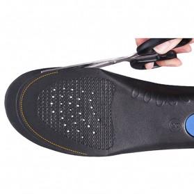 Alas Kaki Sepatu EVA Flatfoot Orthopedic Feet Cushion Massage Insole Size 34-37 - E003 - Blue - 3