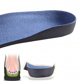 Alas Kaki Sepatu EVA Flatfoot Orthopedic Feet Cushion Massage Insole Size 44-47 - E003 - Blue - 2