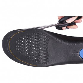 Alas Kaki Sepatu EVA Flatfoot Orthopedic Feet Cushion Massage Insole Size 44-47 - E003 - Blue - 3