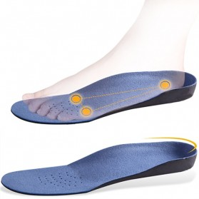 Alas Kaki Sepatu EVA Flatfoot Orthopedic Feet Cushion Massage Insole Size 44-47 - E003 - Blue - 7