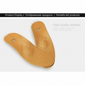 KOTLIKOFF Insole Alas Sepatu Kulit Arch Correction Sweat Absorbent Size 37-38 - MJ020 - Brown - 7