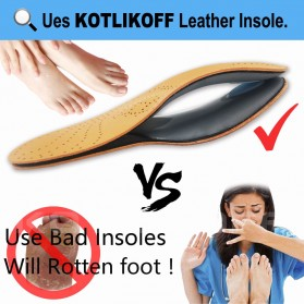 KOTLIKOFF Insole Alas Sepatu Kulit Arch Correction Sweat Absorbent Size 37-38 - MJ020 - Brown - 10