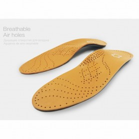 KOTLIKOFF Insole Alas Sepatu Kulit Arch Correction Sweat Absorbent Size 39-40 - MJ020 - Brown - 6