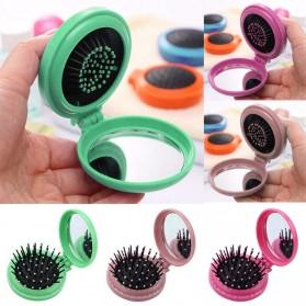Aihogard Sisir Rambut Travel Portable Folding Hair Comb dengan Kaca Cermin - FMBS468 - Mix Color
