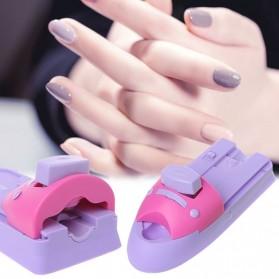 GCOCL Nail Art Printer Kuku UV LED Nail Stamper Machine - 1-2003 - Purple - 2
