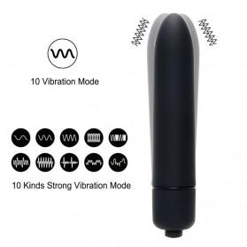 XC USHIO Bullet Tickler Vibrator Pijat Tubuh Elektrik 10 Speed - 4277 - Rose - 5