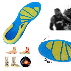 Faddare Alas Kaki Sepatu Shock Absorb Orthopedic Insole Size S - MJ003 - Blue - 1