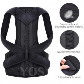 YOSYO Belt Magnetic Terapi Koreksi Postur Punggung Size S - Y11002 - Black - 4