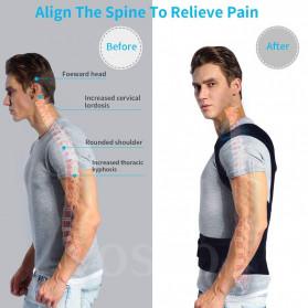 YOSYO Belt Magnetic Terapi Koreksi Postur Punggung Size L - Y11002 - Black - 2