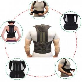 YOSYO Belt Magnetic Terapi Koreksi Postur Punggung Size L - Y11002 - Black - 5