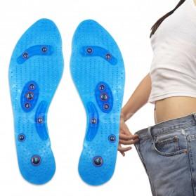 Sunvo Alas Kaki Sepatu Magnetic Silicone Gel Pad Therapy Massage Size S - Sn18 - Blue - 3