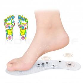 Sunvo Alas Kaki Sepatu Magnetic Silicone Gel Pad Therapy Massage Size S - Sn18 - Blue - 5