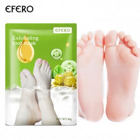 Efero Masker Exfoliating Kaki Pedicure Penghilang Kulit Mati Olive 2PCS - EFM