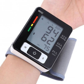 Pr Sung Pengukur Tekanan Darah Electronic Sphygmomanometer Heart Rate - CK-W133 - Black - 3