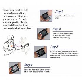 Pr Sung Pengukur Tekanan Darah Electronic Sphygmomanometer Heart Rate - CK-W133 - Black - 8