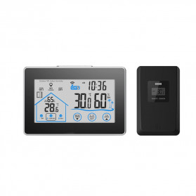 BALDR Weather Station Thermometer Hygrometer Temperature Alarm Wireless 100m Sensor - V3 - Black
