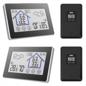 BALDR Weather Station Thermometer Hygrometer Temperature Alarm Wireless 100m Sensor - V3 - Black - 2