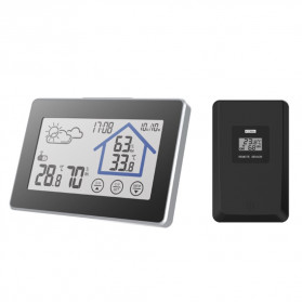 BALDR Weather Station Thermometer Hygrometer Temperature Alarm Wireless 100m Sensor - V3 - Black - 3