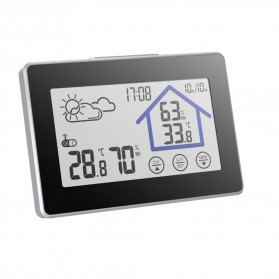 BALDR Weather Station Thermometer Hygrometer Temperature Alarm Wireless 100m Sensor - V3 - Black - 4