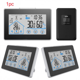 BALDR Weather Station Thermometer Hygrometer Temperature Alarm Wireless 100m Sensor - V3 - Black - 5
