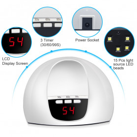 Inlife Pengering Kutek Kuku UV LED Nail Dryer 45W - SP180 - White - 5
