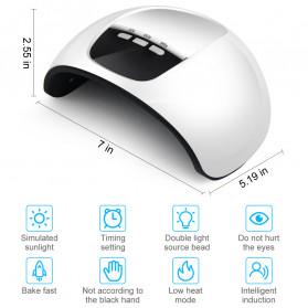 Inlife Pengering Kutek Kuku UV LED Nail Dryer 45W - SP180 - White - 8