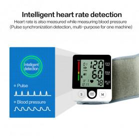 JZIKI Pengukur Tekanan Darah Electronic Sphygmomanometer with Voice - CK-W132 - Black - 6