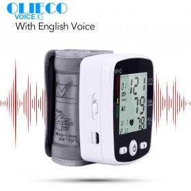OLIECO Pengukur Tekanan Darah Electronic Sphygmomanometer with Voice - CK-W355 - Black